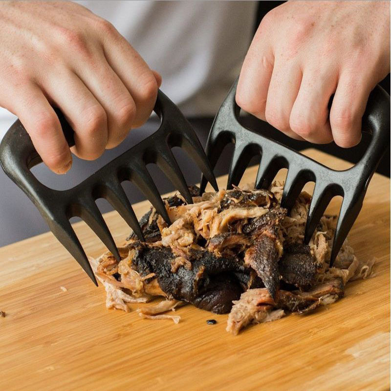 2pcs Fork Grizzly Claws Meat Beef Handler Shred BBQ Barbecue Tool Tongs Mixing Pulling Lift Pork Sharp Special Chicken Cooking(China (Mainland))