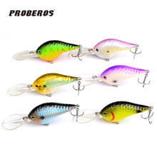 6pc Design Golf Ball Dimple Fishing Lures Exported to USA Market Crank lures 11.5cm/23g fishing tackle Retail box DW-B20(Hong Kong)