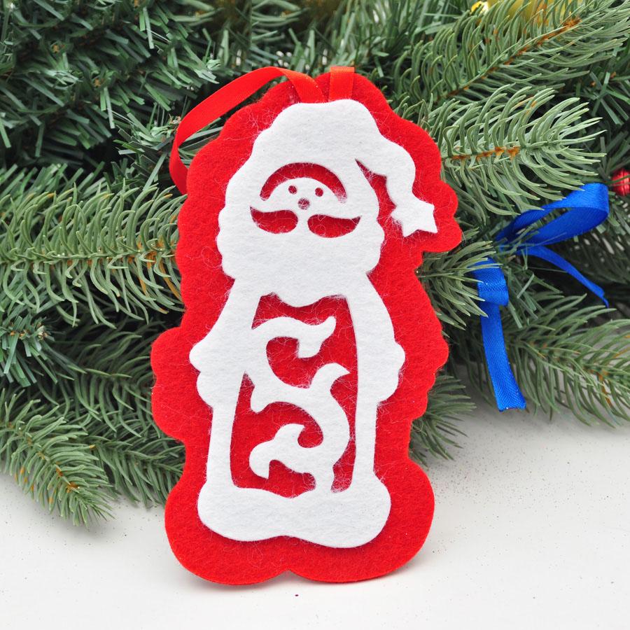 christmas decoration natal navidad craft supplies 16cm Santa Claus Christmas tree ornaments gifts(China (Mainland))