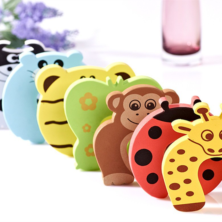 Гаджет  1pc Baby Safety Stop Lock Cartoon durable Door stopper for kids door Guards individual packing 7colors None Детские товары