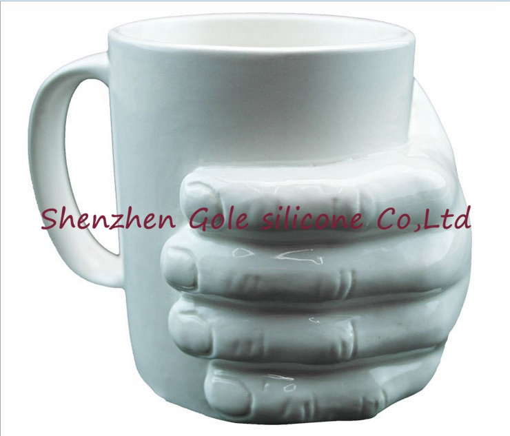 2016 New Hot 1 Piece 10oz selling Ceramic Hand Mug Hand In Hand Coffee Cup Novelty Gift Free shipping(China (Mainland))