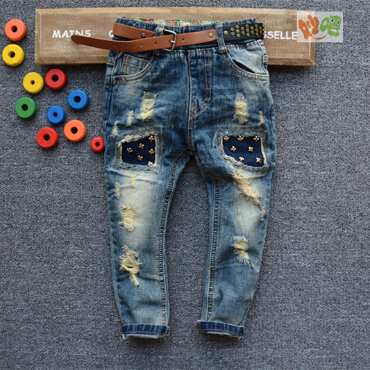 New Spring Autumn Childrens Clothing Boys Baby Jeans Children Trousers Ripped  Jeans Fashion Clothes Jeans For Baby 8637<br><br>Aliexpress