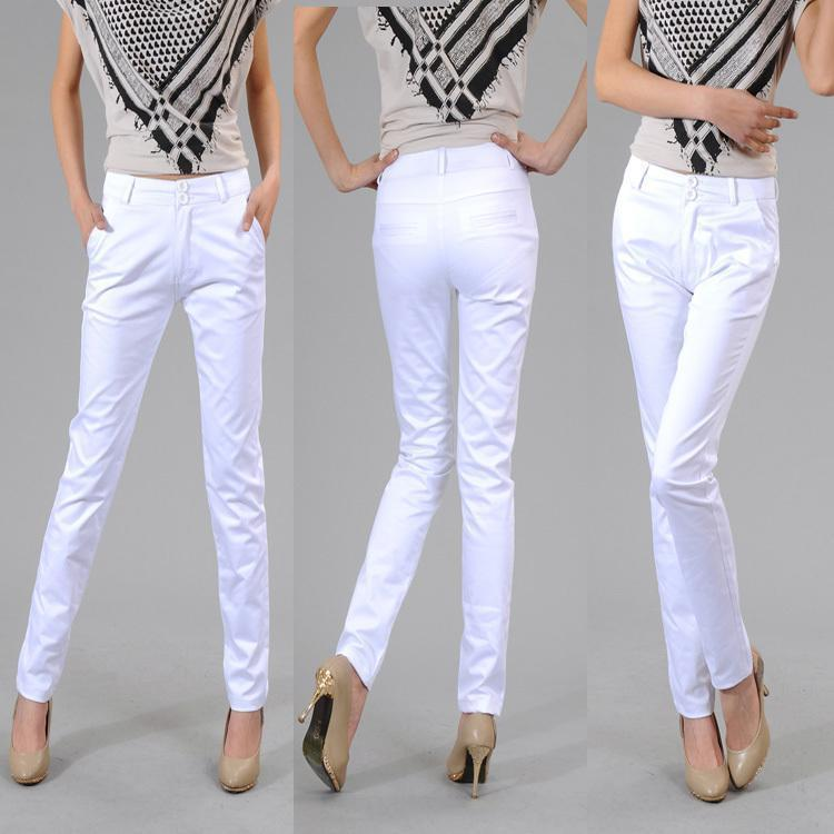 Woman White Pants