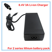 Buy Free shipping 8.4V 3A Li-polymer battery charger DC port 2S 7.2V 7.4V 8.4V Rechargeable 18650 Lithium battery pack for $14.99 in AliExpress store