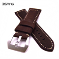 Retro Leather Watchbands For PAM brown leather Material 22mm 24mm 26mm Brown Strap with Buckle For