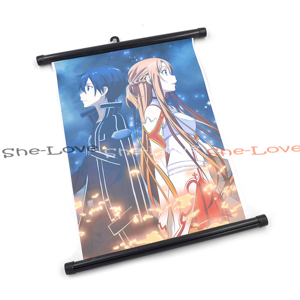 Japanese Sword Art Online Wall Poster Scroll Anime Home Decor Cosplay(China (Mainland))