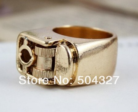 Free Shipping 10Pieces New Steampunk Fierce Unisex Punk Gothic Lighter Ring Size 7 (Metal)(China (Mainland))
