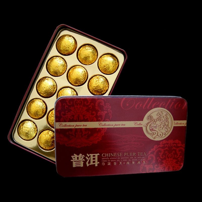 Hot Sale Puer Old trunk compartment Puerh Tea Chinese Mini Yunnan Puer Tea Gift Tin box