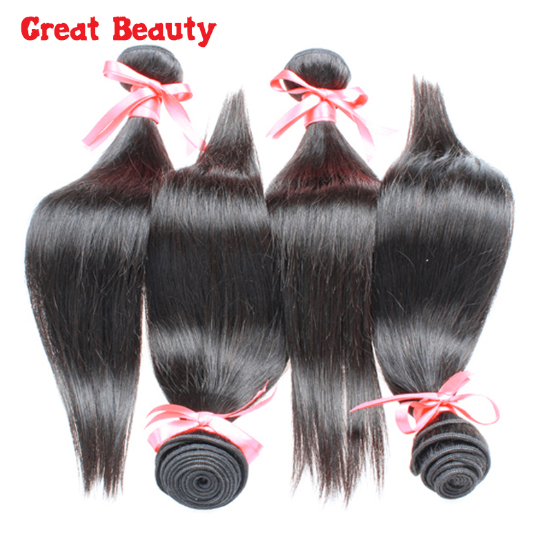 Top 6a Brazilian Virgin Hair Straight 4 Bundles Mink Brazilian Hair Bundles Virgin Brazilian Straight Hair 4pcs Lot Mocha Hair