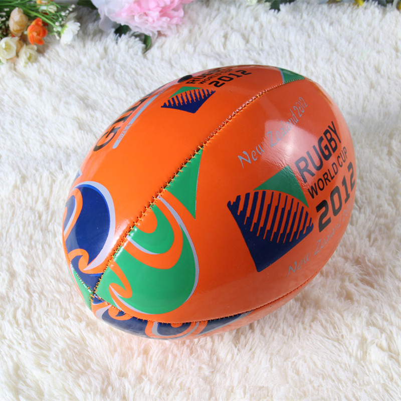 Hot Sale Outdoor Sport Quality PU Size 9 Orange Traditional Training Standard Britain Style Rugby Ball For Match(China (Mainland))
