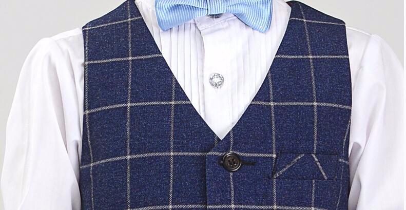 Скидки на 4 шт. высокое качество Дети сетка жилет костюм мальчика Весна Платье Девушки Цветка Костюм мальчики выпускного вечера костюмы (брюки + жилет + рубашка + галстук-бабочка)