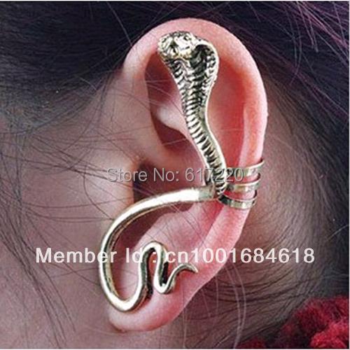#091 Wholesale Chepa Punk Cobra Ear Cuff, Animal Ear Cuffs Free Shipping 24pcs/lot
