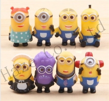 8pcs MINIONS Movie Toys Action Figures kid gift