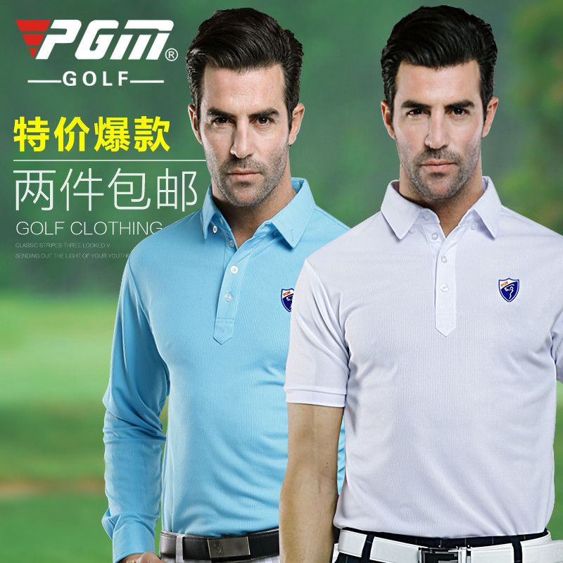 PGM Mens Autumn & Winter Long-Sleeve, Mens Golf Apparel Workout Shirt, GOLF Mens Pro Long Sleeve Base Layer Fitted DriFit Shirt(China (Mainland))
