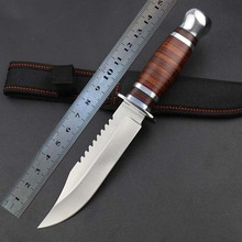High quality hunting knife K30 Outdoor knife camping survival tool outdoor survival knife aviation wood handle free shipping