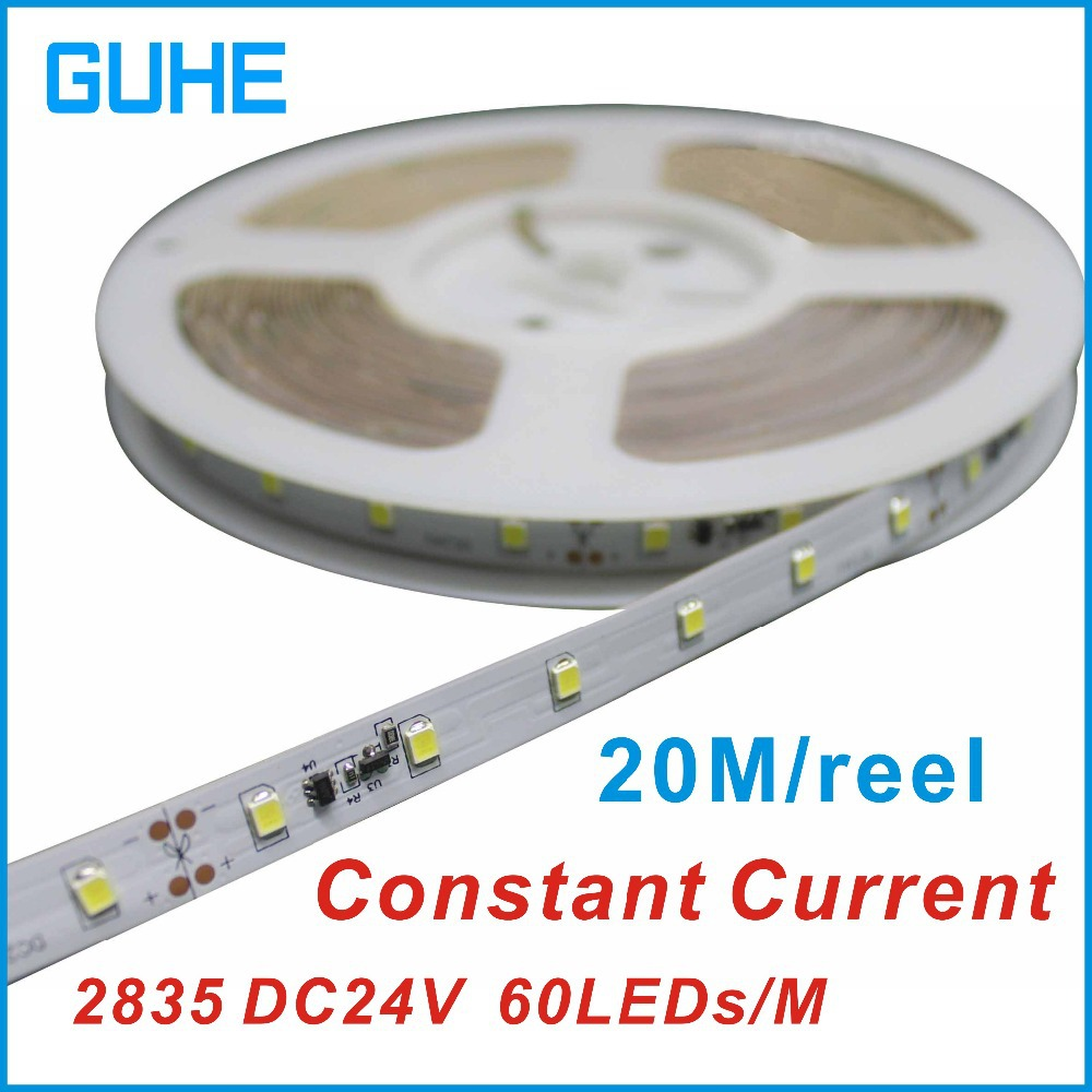 20M Continuous LED Strip Light 2835 SMD 60leds/m IP65 waterproof Flexible LED Strip,DC24V 20 Meters Continuous LED Strip Light(China (Mainland))