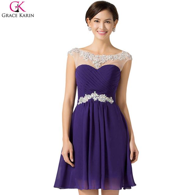 Красивая дешевые короткие платья выпускного вечера грейс карин шифон открыть назад ...