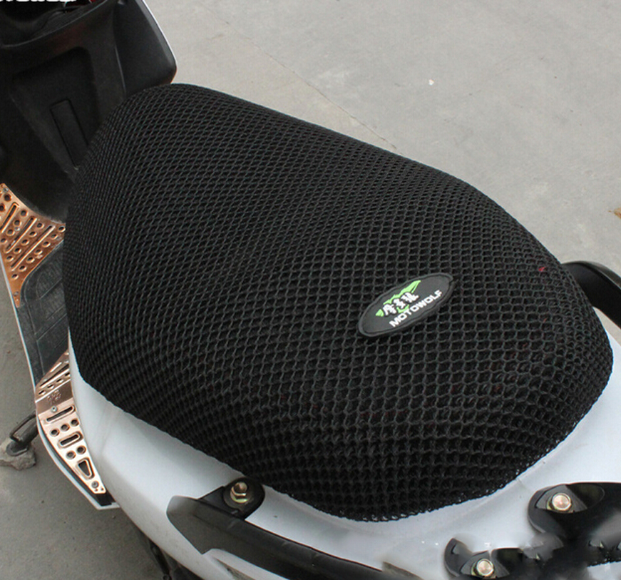 New Breathable Summer Cool 3D Mesh Motorcycle Moped Motorbike Scooter Seat Covers Cushion Anti-Slip Waterproof Free Shipping(China (Mainland))