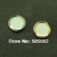 Replacement white Home Button With Metal Ring Repair Part for iPhone 4 4G Same Look as iPhone 5s + free shipping