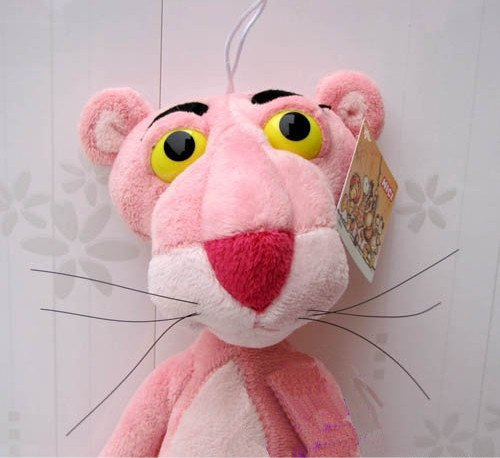 New stuffed small plush toys pink leopard doll birthday gift super-soft velvet filled with PP cotton 38cm(China (Mainland))