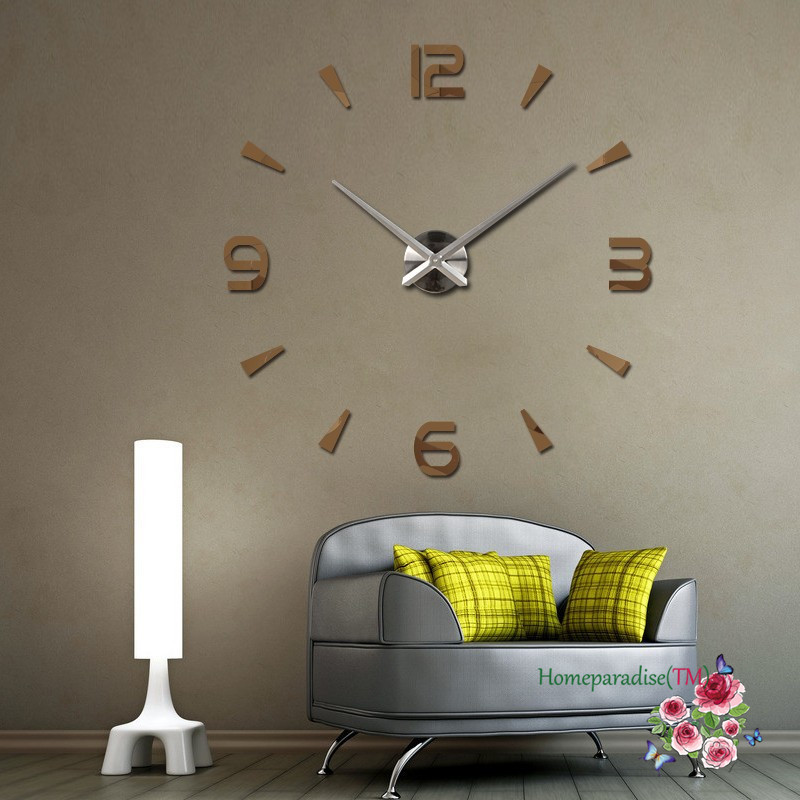 Wholesale 25 40 Arabic Numbers Arrows Large Hands Mirror Wall Clock  Oversized Clock Living Room Decor Wall Sticker Decal Decoration Small  Bathroom Wall ...