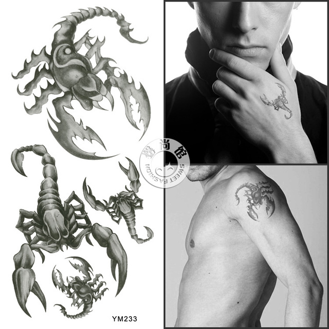 Men&Women waterproof tattoo sticker - scorpions patterns suit