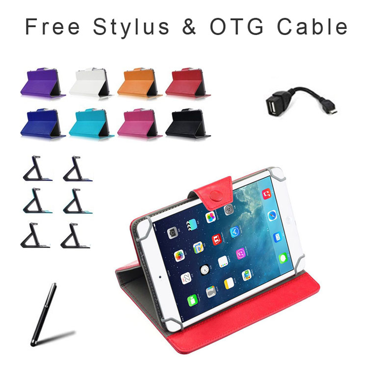 RUSSIA FREE SHIPPING For Archos 79 Cobalt 7.85 inch Tablet Universal PU Leather Cover Case 9 Colors Free Stylus+OTG Cable(China (Mainland))