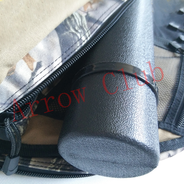 Partly camouflage with double zippers inner plush protection shockproof quiver bag archery hunting compound bow case