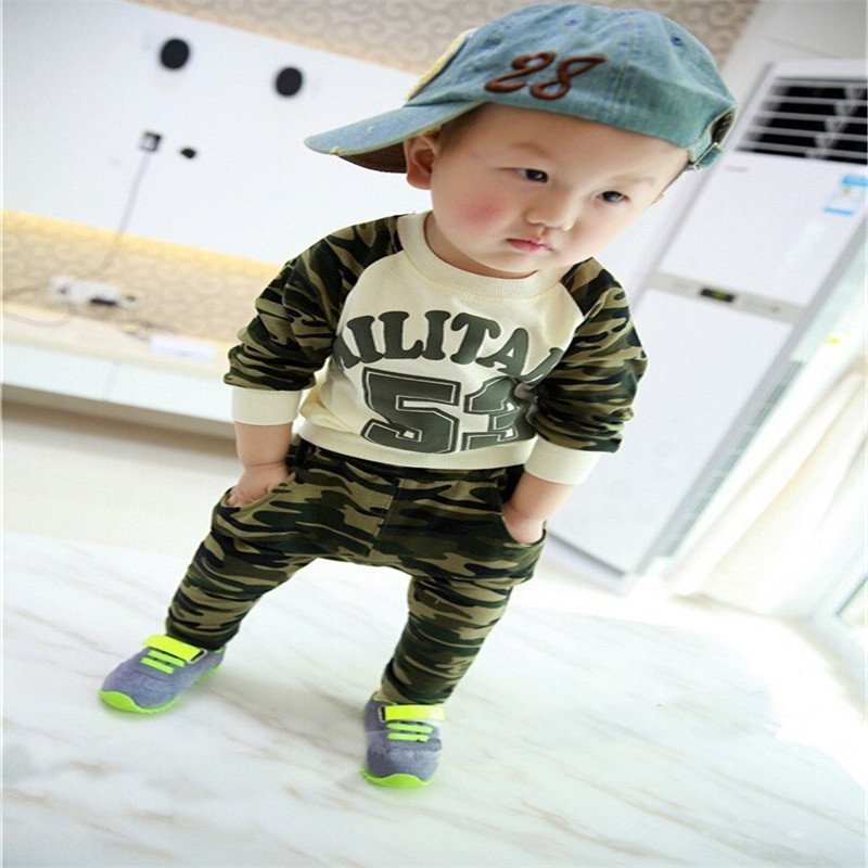 kids boys sport clothing sets infantil newborn military army t-shirt pants baby boys clothes suits spring children tracksuits<br><br>Aliexpress