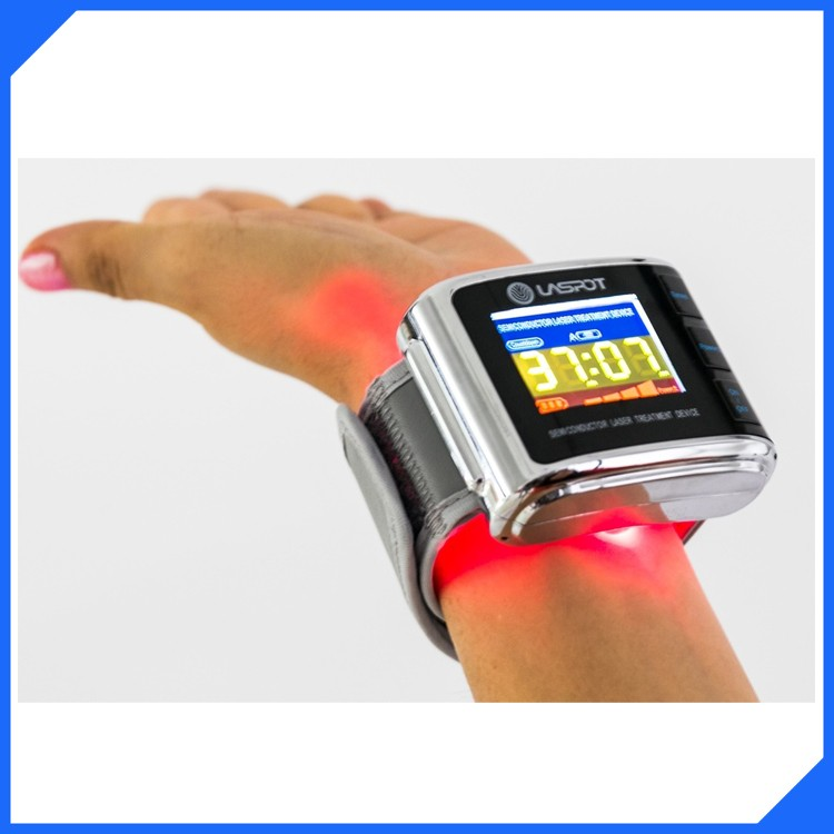 Hot! medical equipment blood cleaning laser watch LASPOT reduce cholesterol level, lower blood pressure, reduce the blood sugar