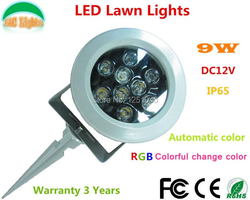 Aliexpress.com : Buy Automatic Change color 9W LED Garden Spotlights DC 12V RGB LED Flood Lights ...