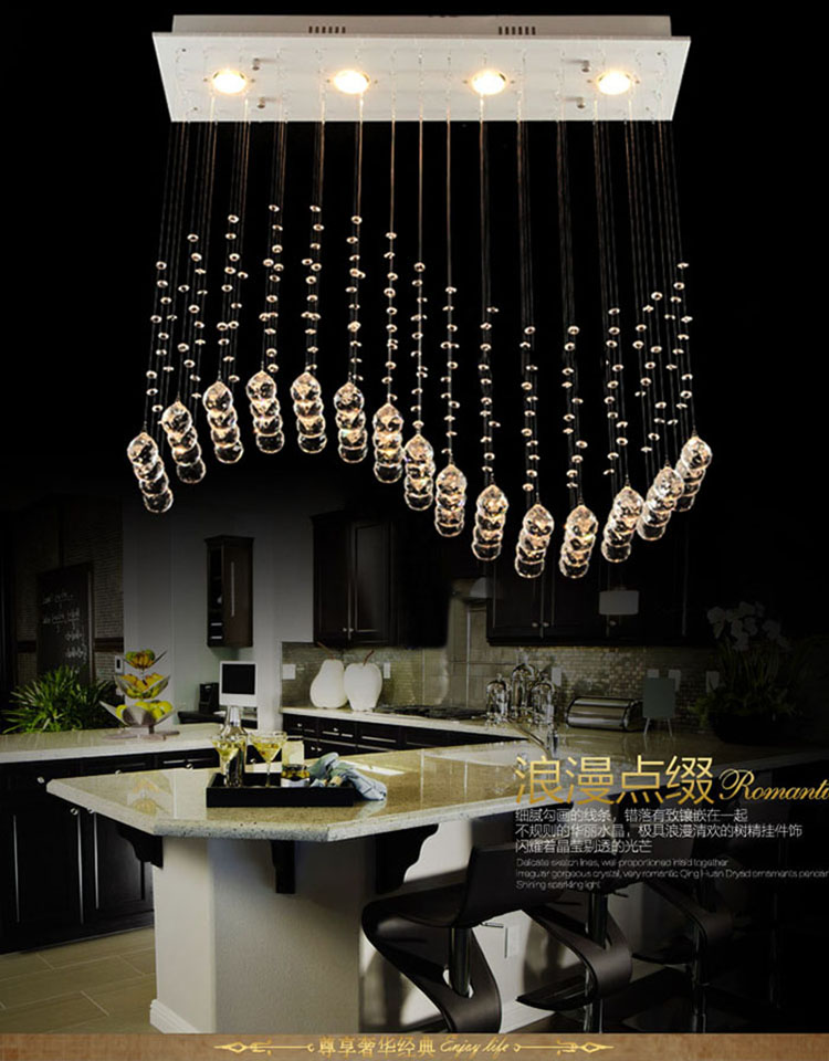 Most popular contemporary crystal dining lamp curtain wave k9 led modern crystal chandeliers - Most popular chandeliers ...