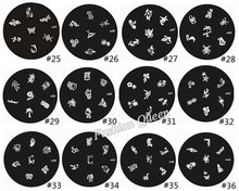81Designs Optional Nail Art Plates Nail Template Stamper Scraper Kit DIY Polish Style Nail Stamp Stamping