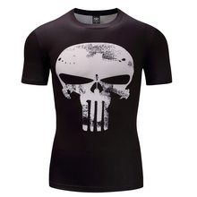 Черная пантера Фитнес Бодибилдинг сжатия рубашка для мужчин аниме рашгарда Рашгард ММА 3D Супермен Каратель футболка Crossfit(China)