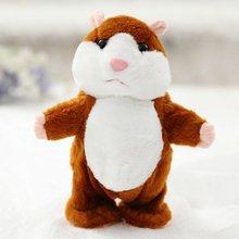 Promoção 15 centímetros Adorável Falar Hamster Falar Falar Sound Record Hamster Repita Animal De Pelúcia Recheado Kawaii Brinquedos(China)