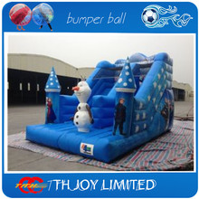 frozen commercial grade heavy duty pvc tarpaulin inflatable slides,inflatable slip n slide for kids(China (Mainland))