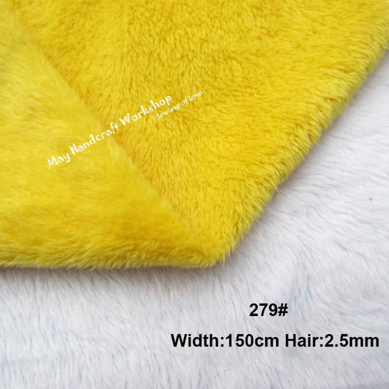 Yellow Fleece Fabric Quality Soft Solid Short Pile Plush Fabric for Patchwork,Doll's Cloth Fabrics,Puppets,DIY Tissues Pillow(China (Mainland))
