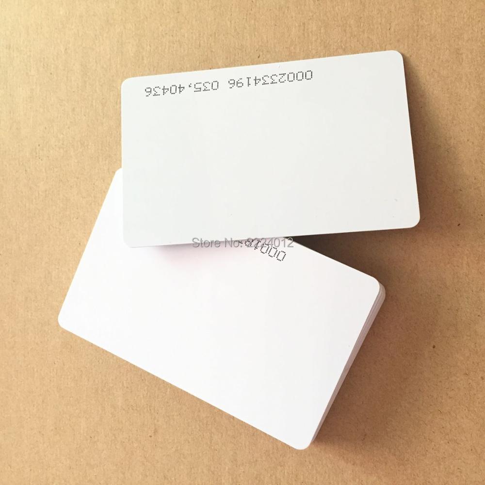 20PCS/LOT 125KHZ Proximity EM4100 Chip RFID Blank ID PVC Card ( Read only ) By Zebra Pi330, Fargo hdp5000 Printer print(China (Mainland))
