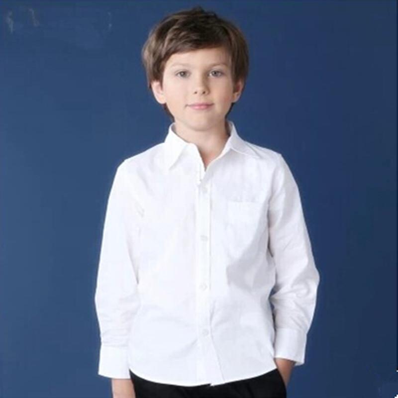 2016 New Style Boys Shirts White Baby Boys Clothes Cotton