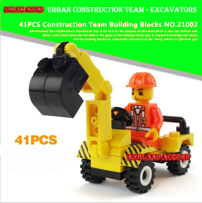 41pcs Boy Gift City Construction DIY Building Bricks Toys Set Brinquedos Minifigures Decool Minifigures Compatible(China (Mainland))