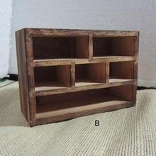 Antique Cabinet Wooden Furniture Handicraft Knick Model Mini Six Grid(China (Mainland))