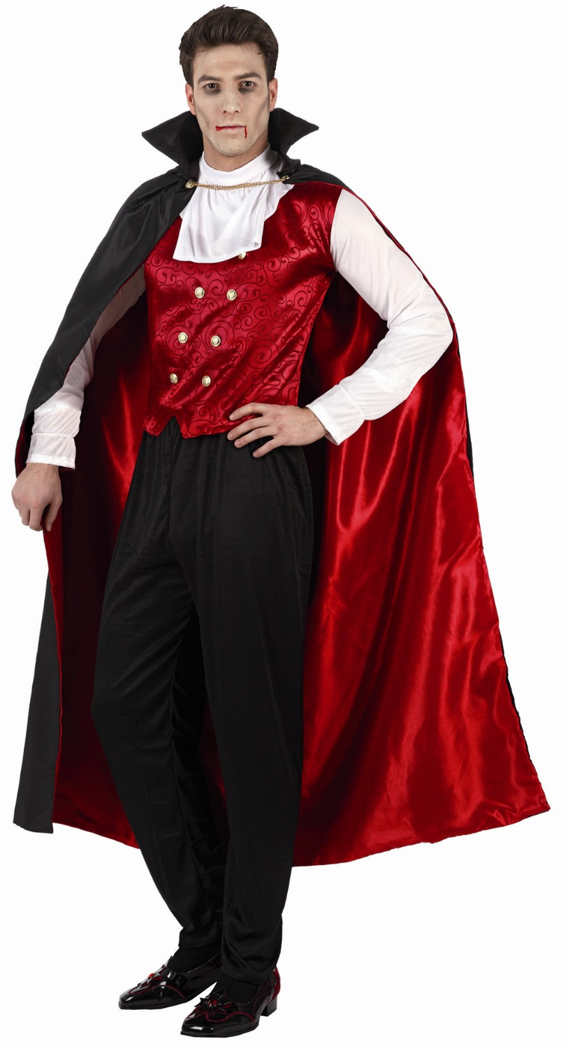 Wholesale - Hot sale New Style Halloween Cosplay Costume Party Clothing for adult man knitted costume set with cloak Black(China (Mainland))