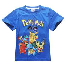 Pikachu tshirt boys clothes POKEMON GO children clothing summer short sleeve cartoon baby kids t-shirt pokemon shirt 2016