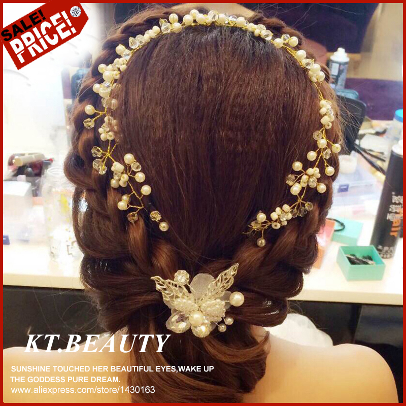 New White Peal + Crystal Flower Hair Clip Lace Satin Bridal Hair Pin Vintage Bridal Headpieces Hair Jewelry Accessories(China (Mainland))