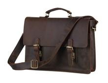 Vintage mens bag genuine crazy horse leather men bag cowhide leather briefcase business laptop bag men messenger bags #VP-J7223(China (Mainland))