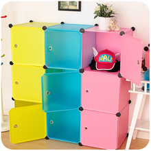 silently magic piece of plastic clothes storage cabinets lockers baby wardrobe cabinet finishing shoe children's toys(China (Mainland))