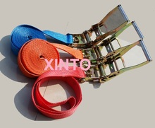 "2"",50MM,5TX10M aluminum alloy steel ratchet tie down strap cargo lashing strap auto sling boat sling boat strap boat belt(China (Mainland))"