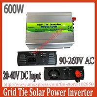 600W MPPT Grid tie inverter,20-40V DC input 90-260V AC output,solar inverter,pure sine wave inverter