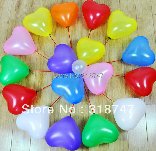 24pcs Latex Balloons Heart Shape Balloon Party Wedding Decoration Material 059003007(China (Mainland))