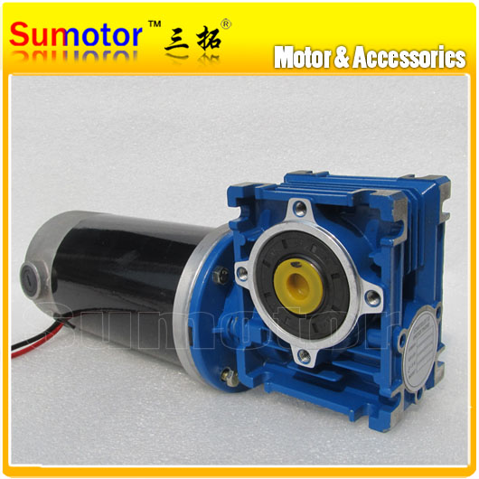 Dc 12v 10a gw80170 worm gearhead reducer electric motor for Low speed dc motor 0 5 6 volt